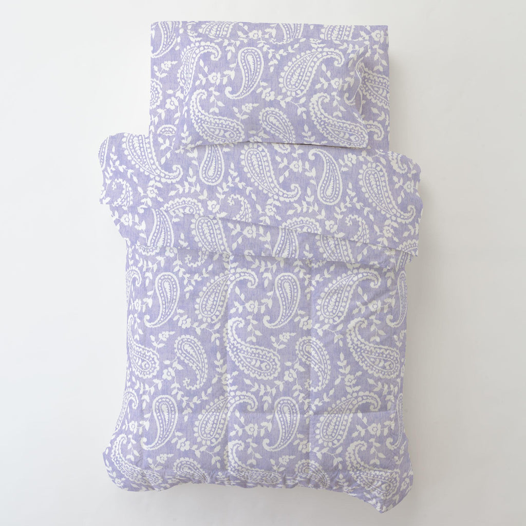Product image for Lilac Paisley Toddler Sheet Bottom Fitted