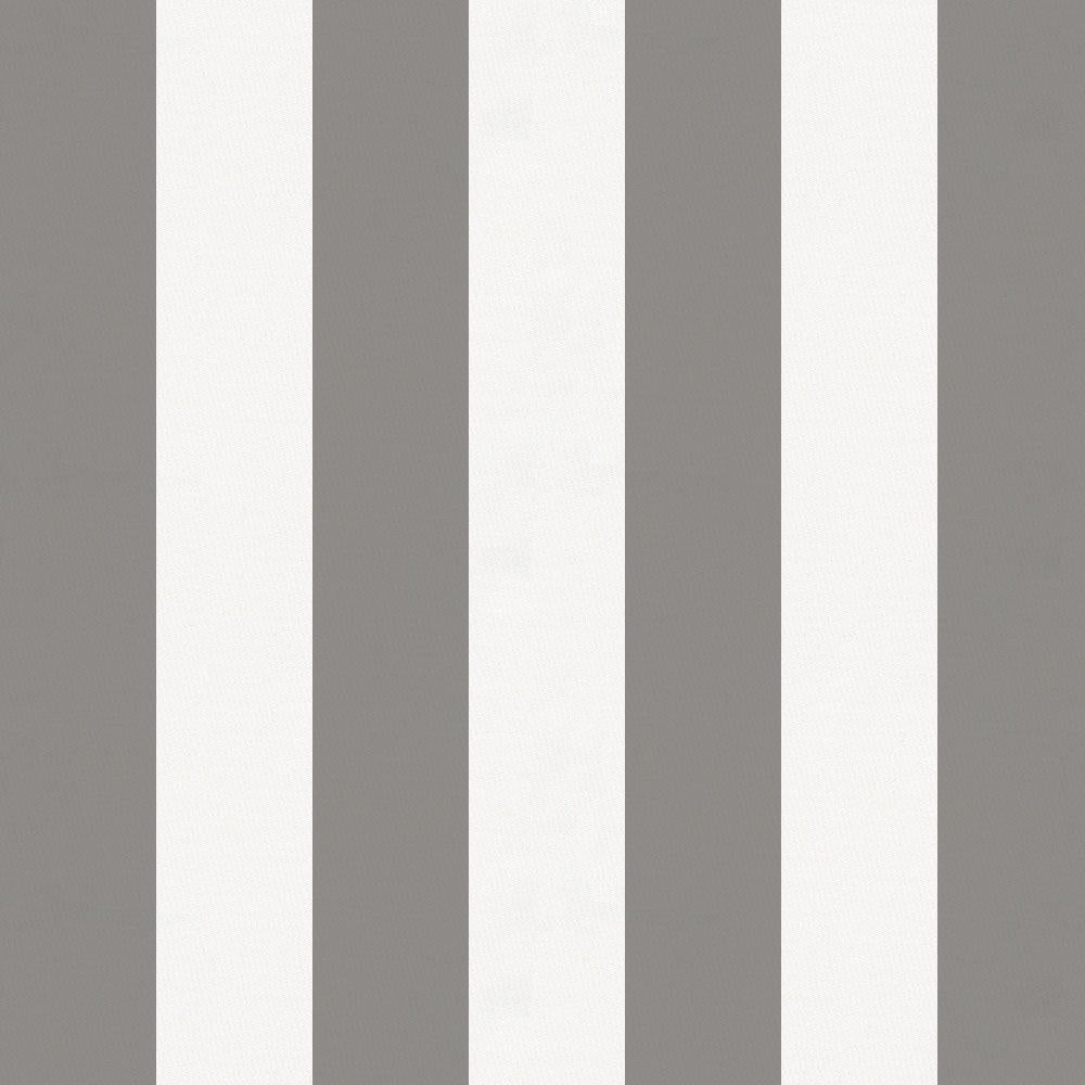 Product image for White and Gray Stripe Crib Skirt Single-Pleat