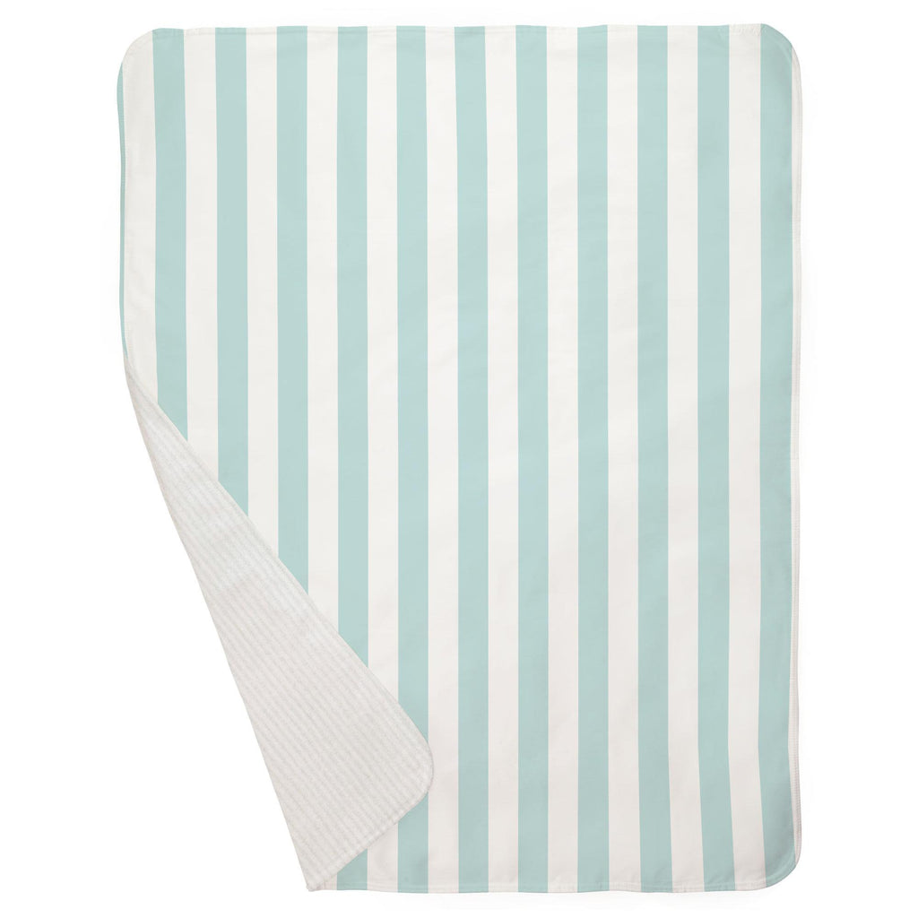 Product image for Mist Canopy Stripe Baby Blanket