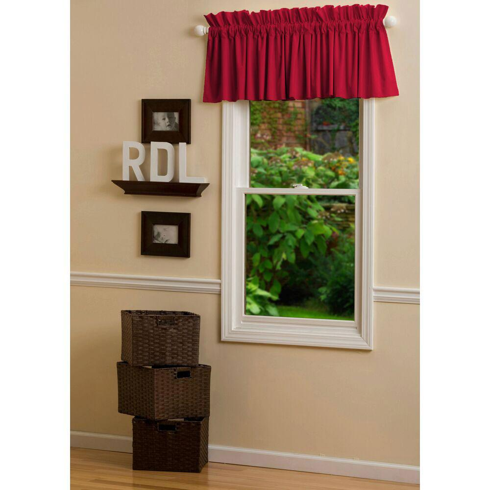 Product image for Solid Red Window Valance