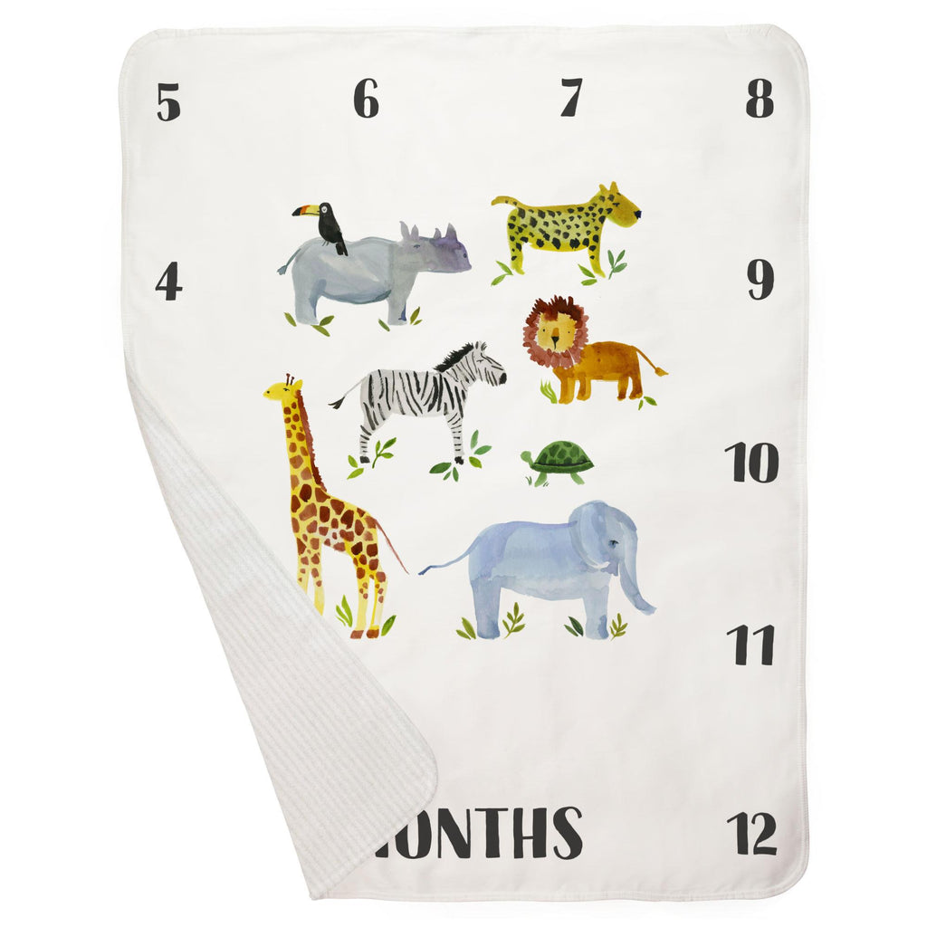 Product image for Painted Zoo Milestone Baby Blanket