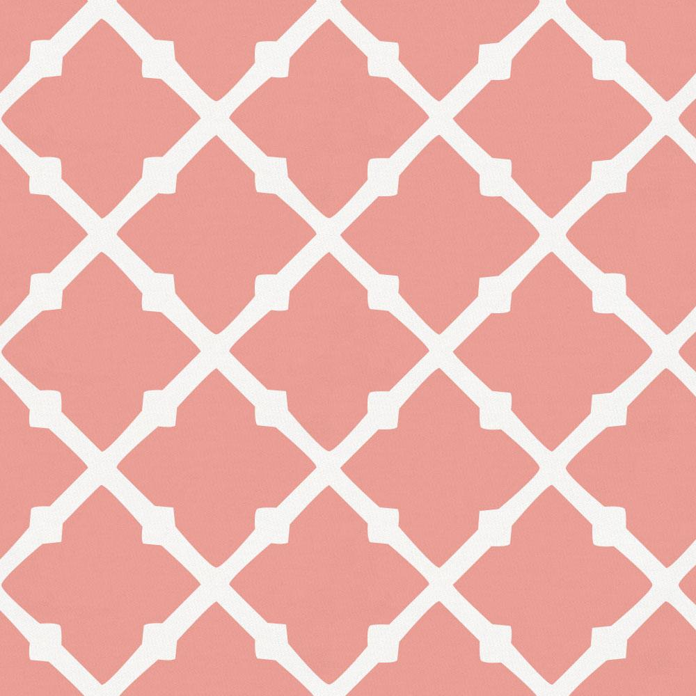 Product image for Light Coral Lattice Duvet Cover