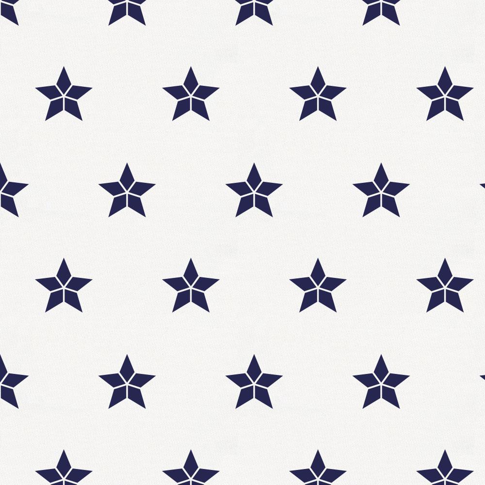 Product image for Navy Mosaic Stars Crib Skirt Gathered