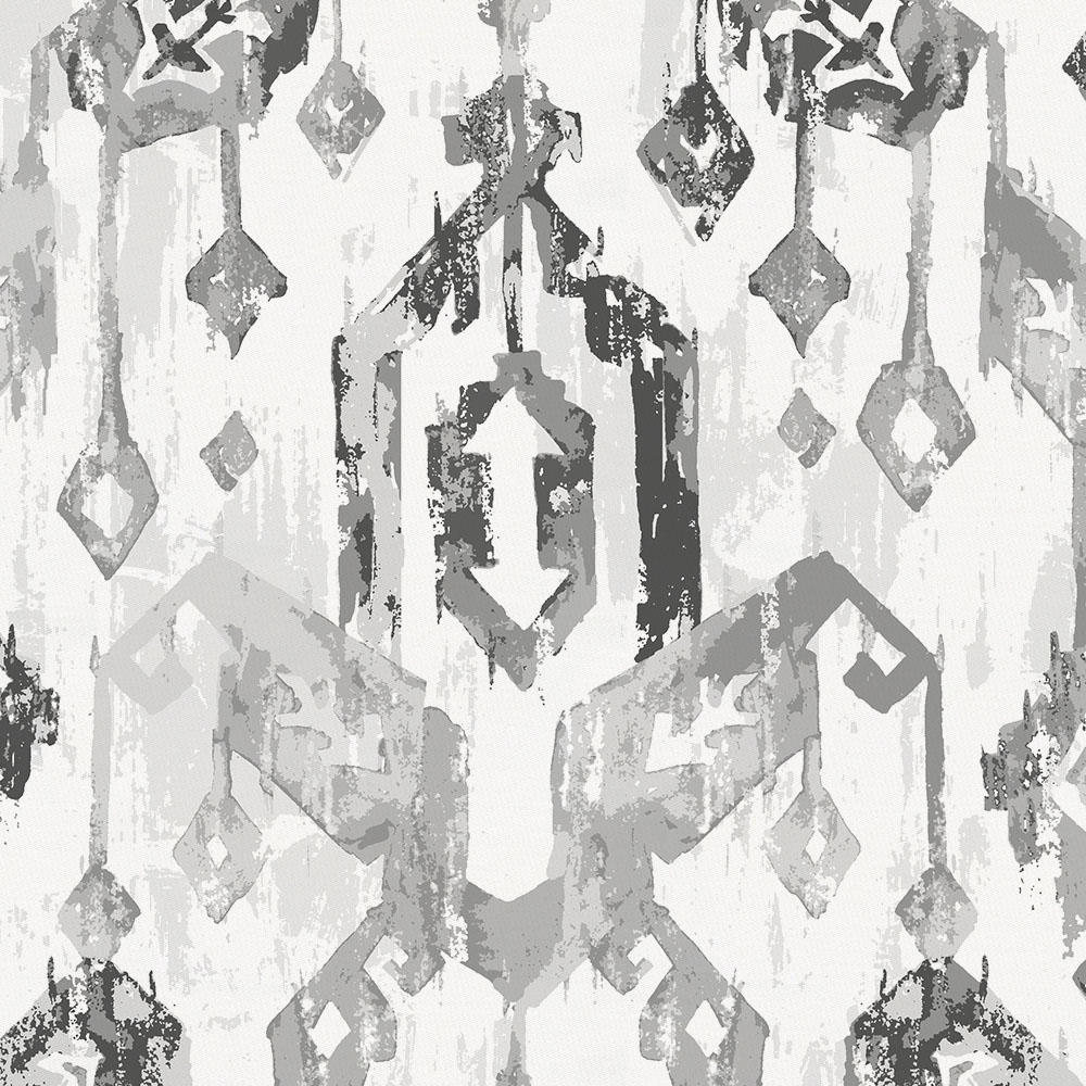 Product image for Gray Tribal Ikat Duvet Cover