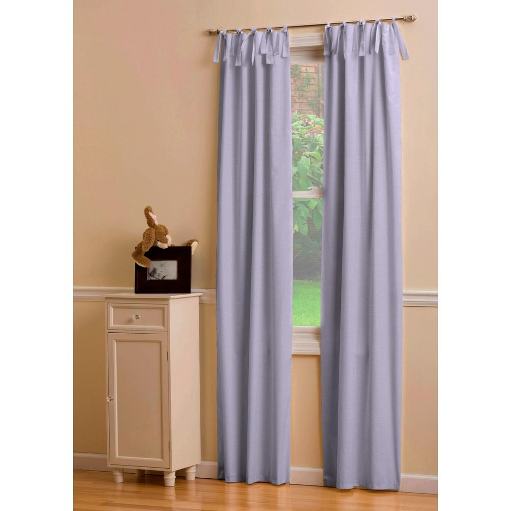 Product image for Solid Lilac Drape Panel with Ties