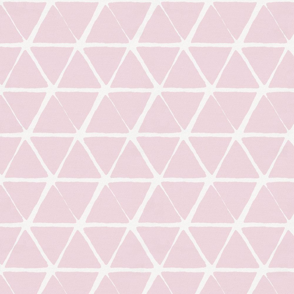Product image for Pink Aztec Triangles Crib Skirt Gathered