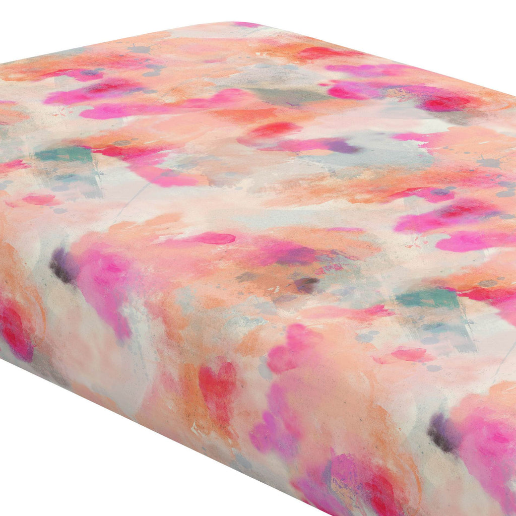 Product image for Coral Abstract Crib Sheet