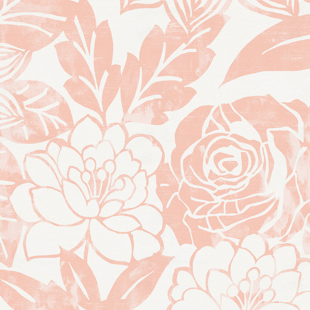 Product image for Peach Modern Blooms Pillow Case