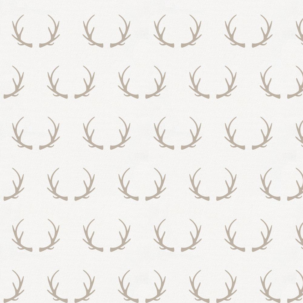 Product image for Taupe Antlers Toddler Pillow Case with Pillow Insert
