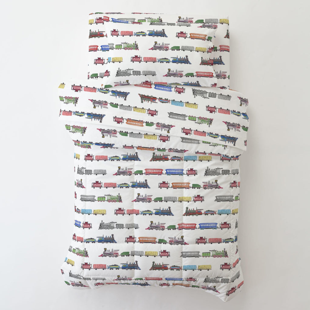 Product image for Watercolor Trains Toddler Pillow Case