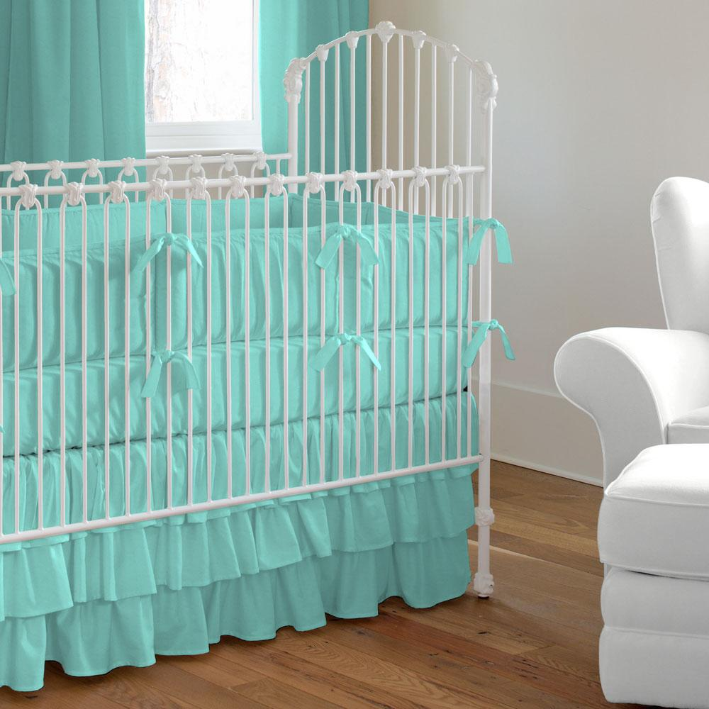 Product image for Solid Teal Crib Rail Cover