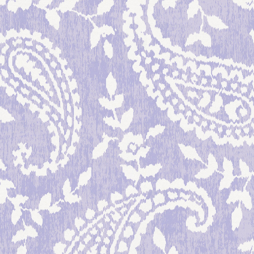 Product image for Lilac Paisley Crib Skirt Gathered