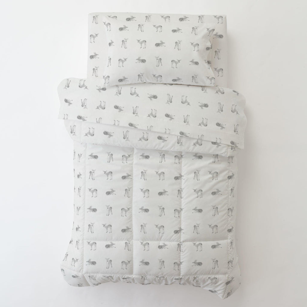 Product image for Silver Gray Fawns Toddler Pillow Case