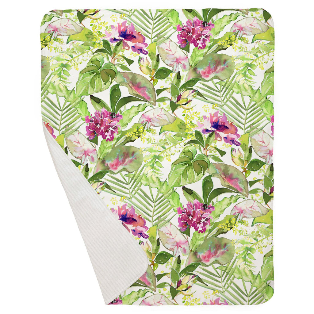 Product image for Tropical Garden Baby Blanket