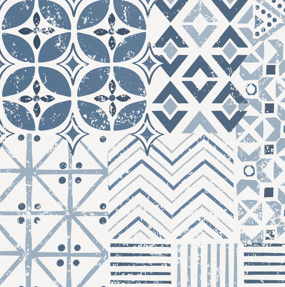 Product image for Denim Patchwork Mini Crib Sheet
