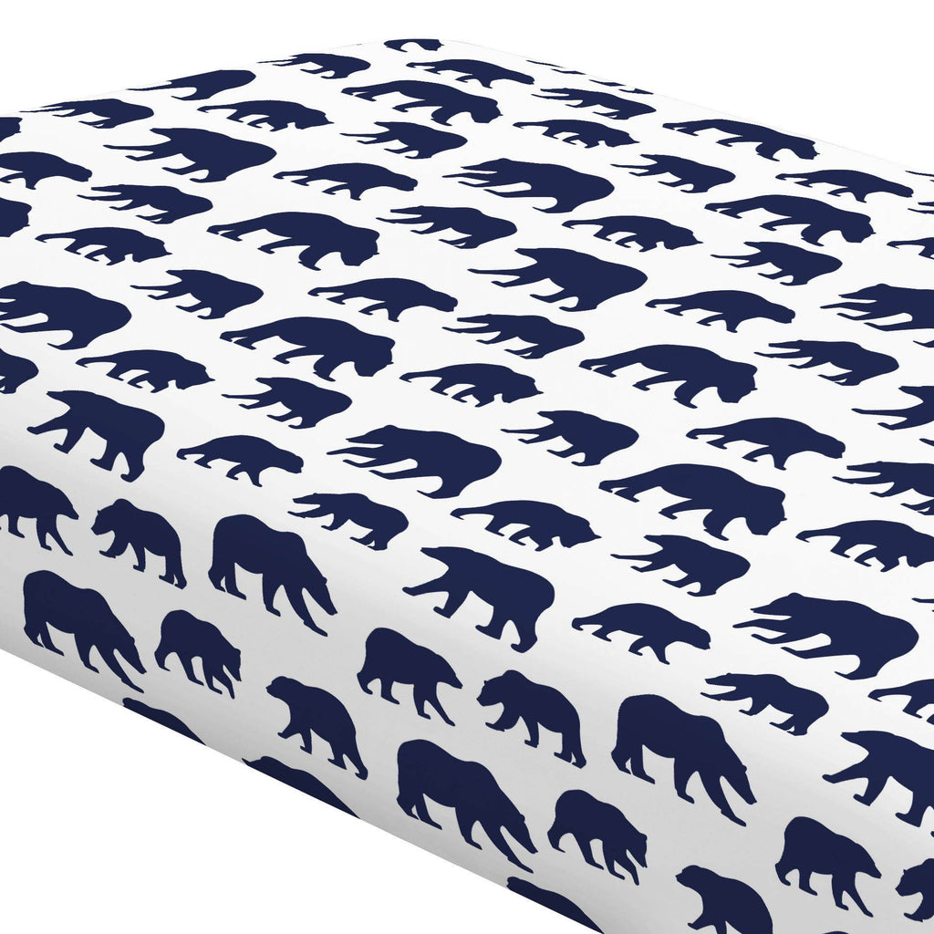 Product image for Navy Bears Crib Sheet