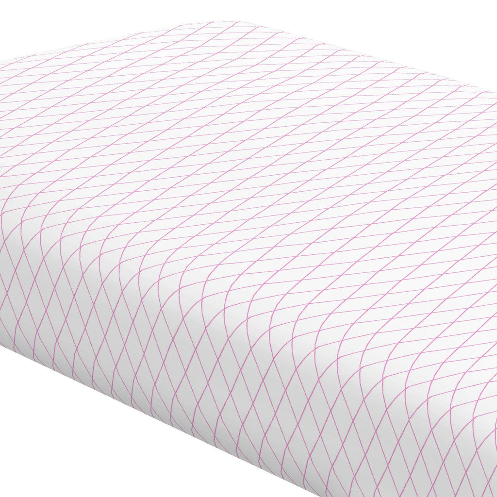 Product image for Hot Pink Princess Lattice Crib Sheet