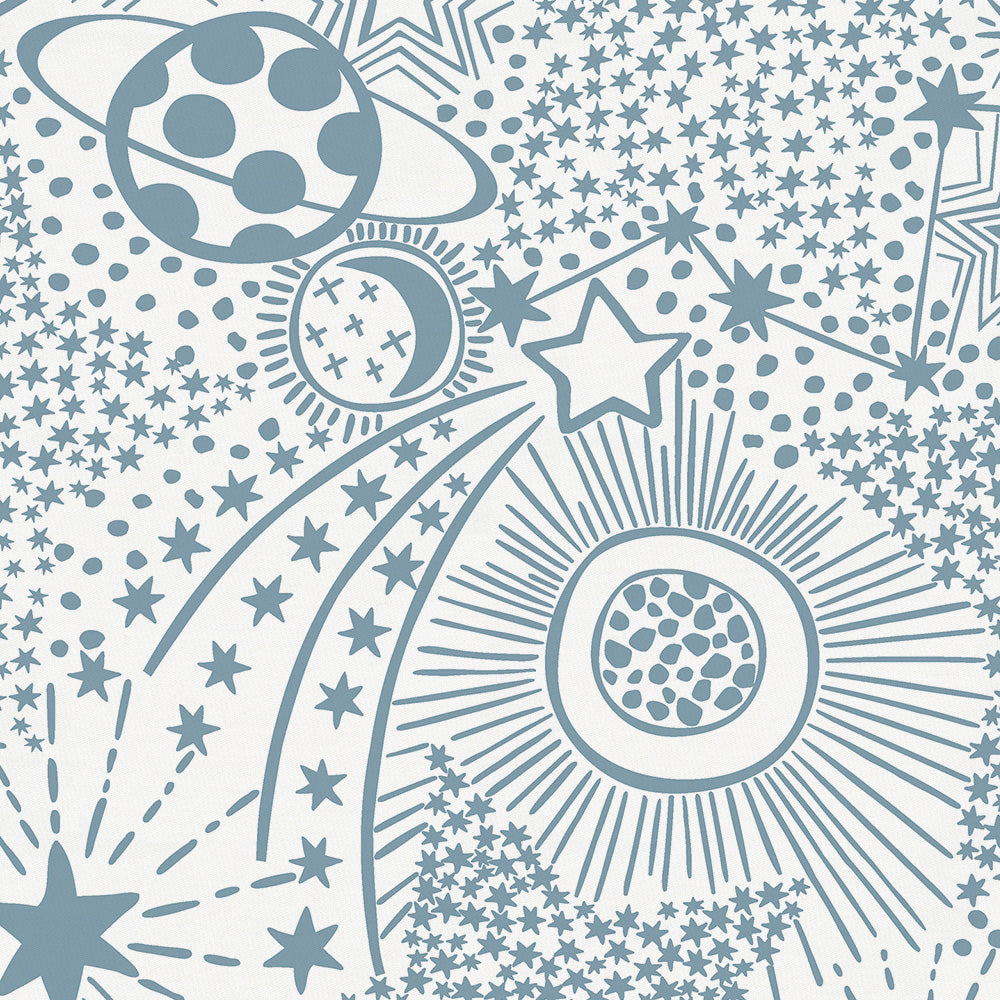Product image for Steel Blue Galaxy Mini Crib Sheet