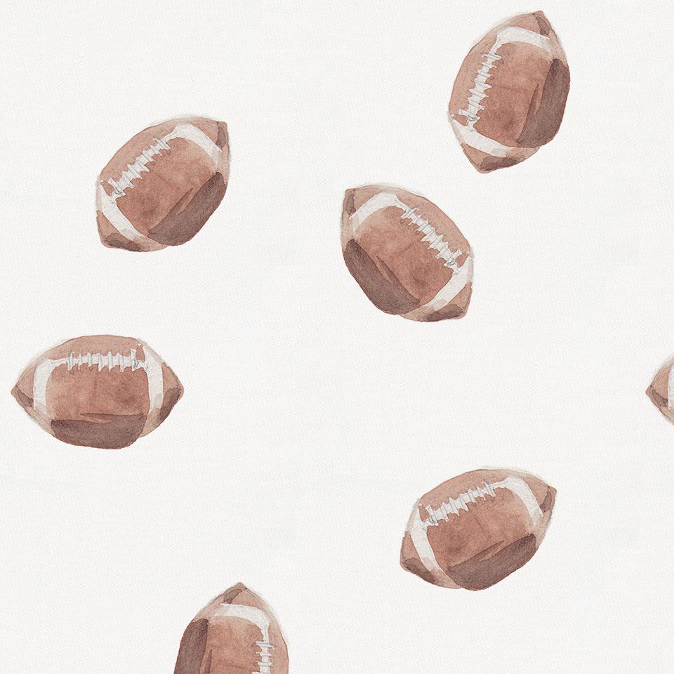 Product image for Watercolor Football Crib Skirt Gathered