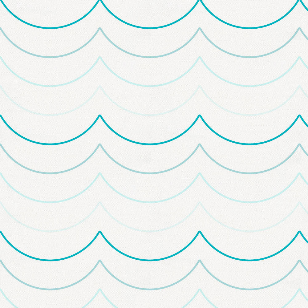Product image for Teal Wave Stripe Mini Crib Sheet