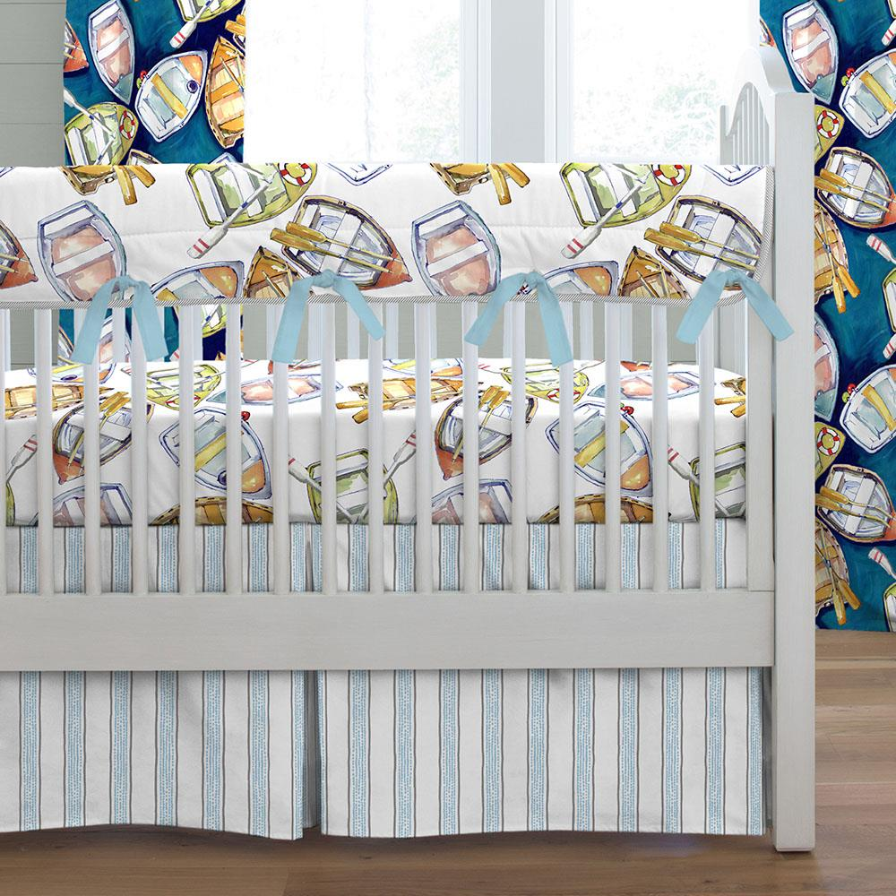 Product image for Watercolor Boats Crib Rail Cover