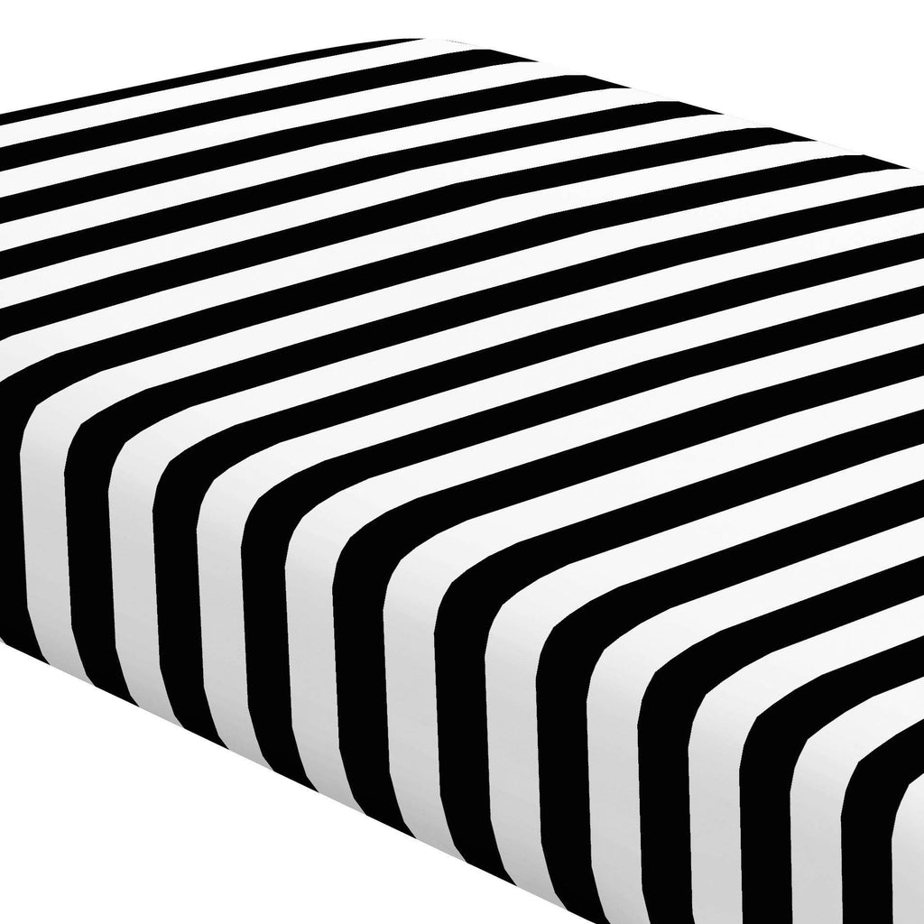 Product image for Onyx and White Stripe Crib Sheet