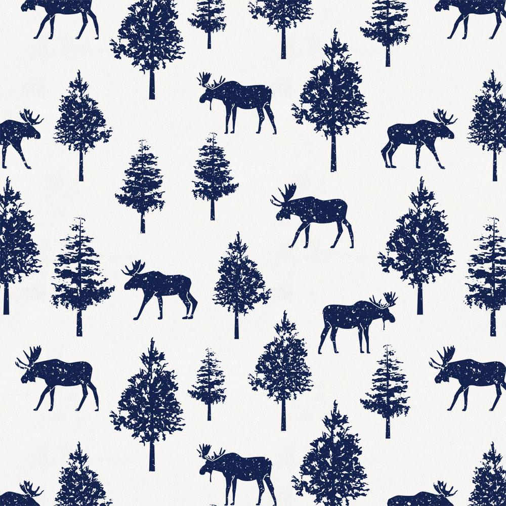 Product image for Navy Moose Fabric