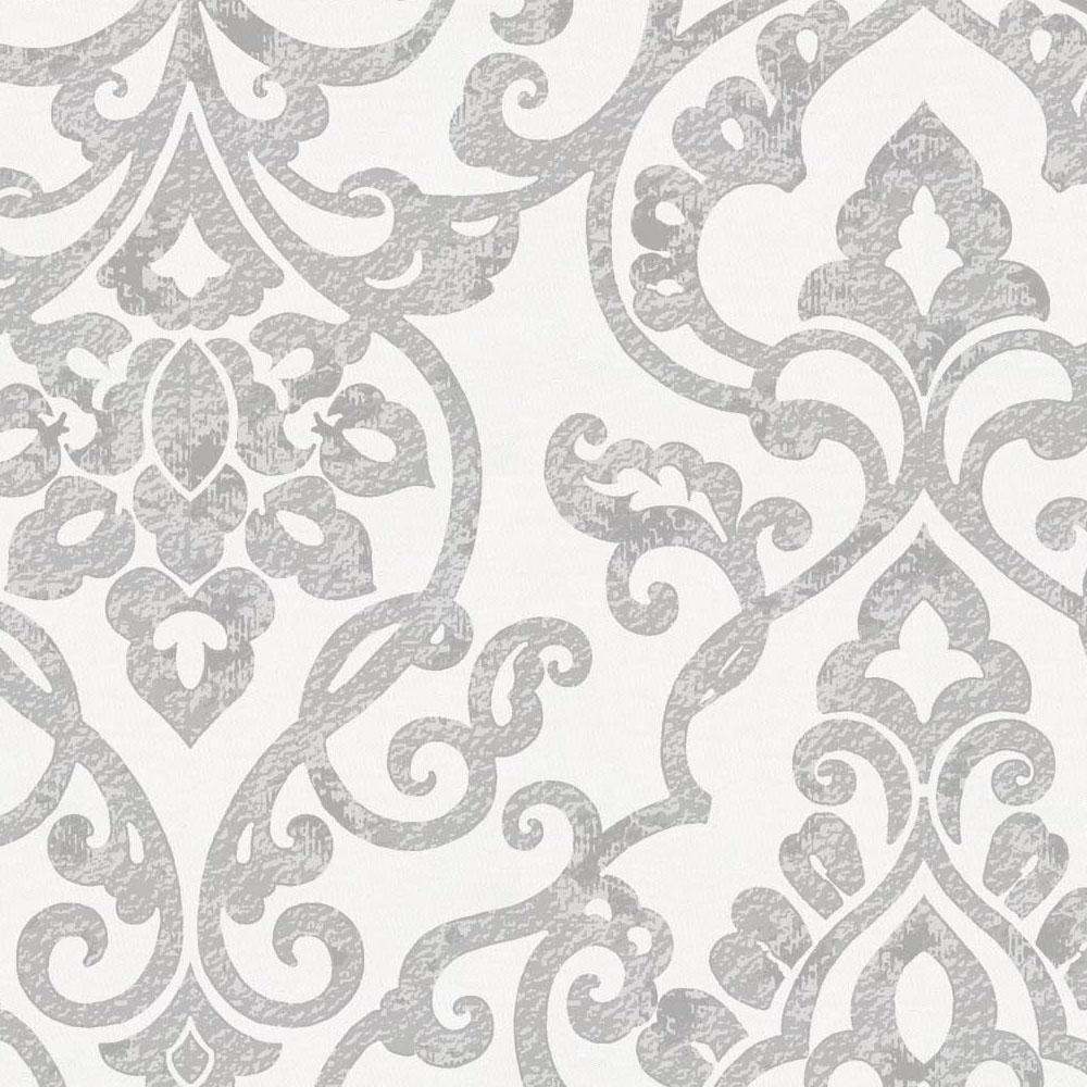 Product image for Gray Filigree Crib Skirt Single-Pleat