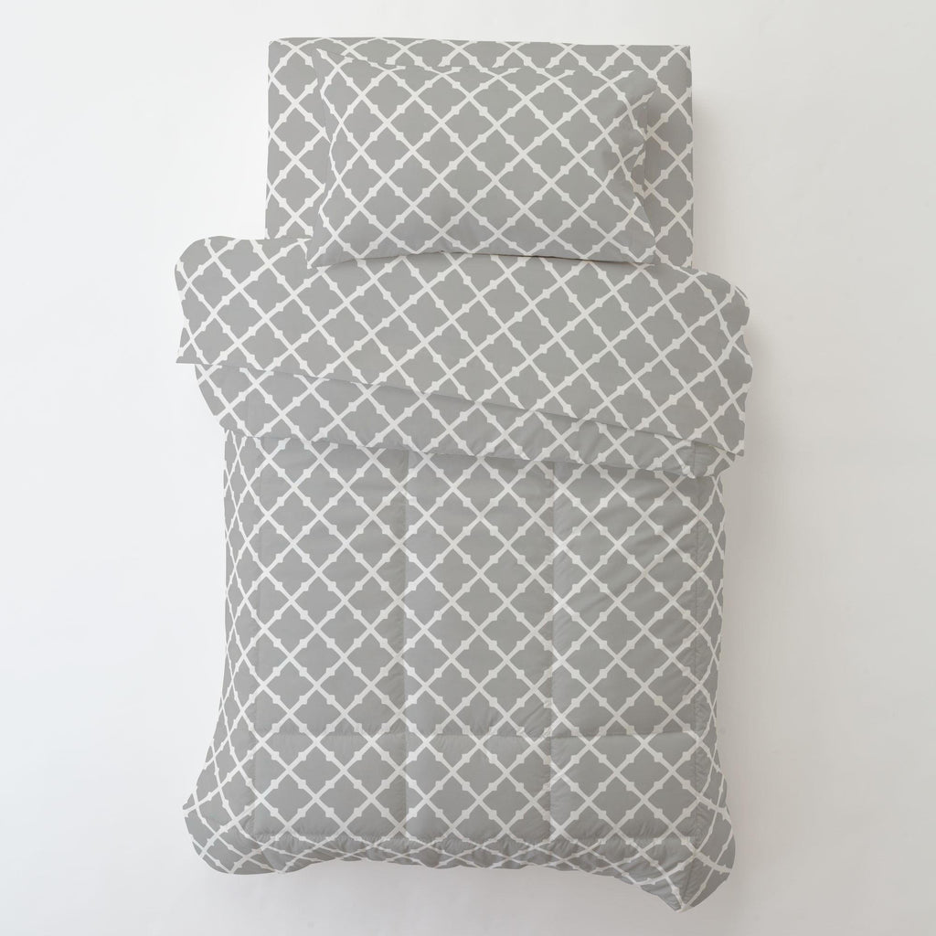 Product image for Silver Gray Lattice Toddler Pillow Case