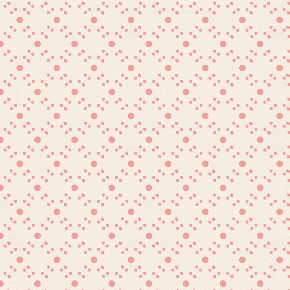 Product image for Coral Pink Lattice Dots Mini Crib Sheet