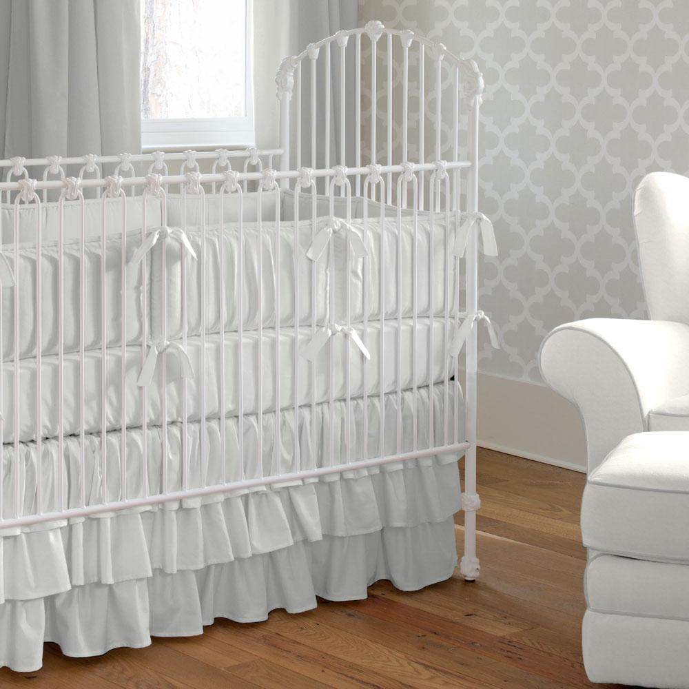 Product image for Solid Silver Gray Crib Comforter with Piping