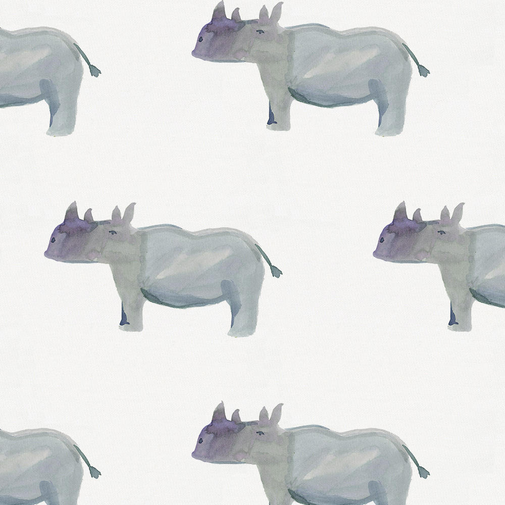 Product image for Painted Rhino Toddler Pillow Case with Pillow Insert