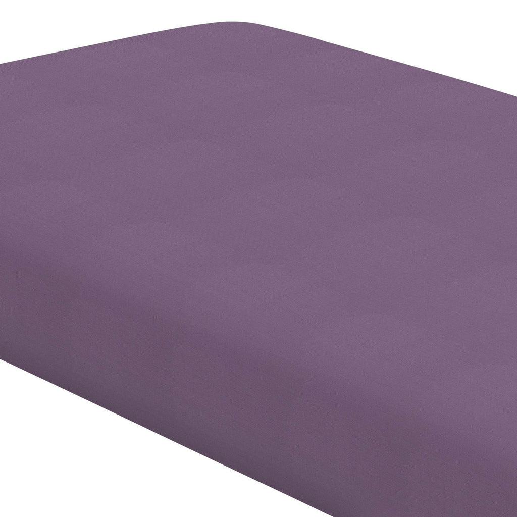 Product image for Solid Aubergine Purple Crib Sheet