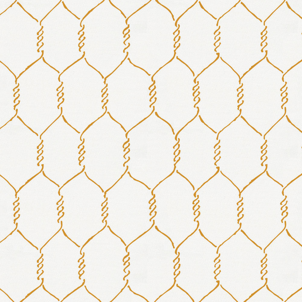 Product image for Mustard Farmhouse Wire Crib Skirt Single-Pleat