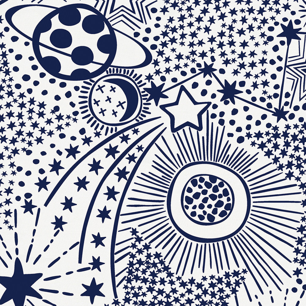 Product image for Navy Galaxy Mini Crib Sheet
