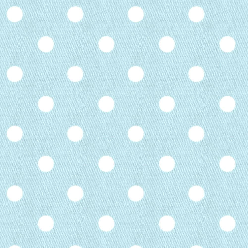 Product image for Mist and White Polka Dot Baby Blanket