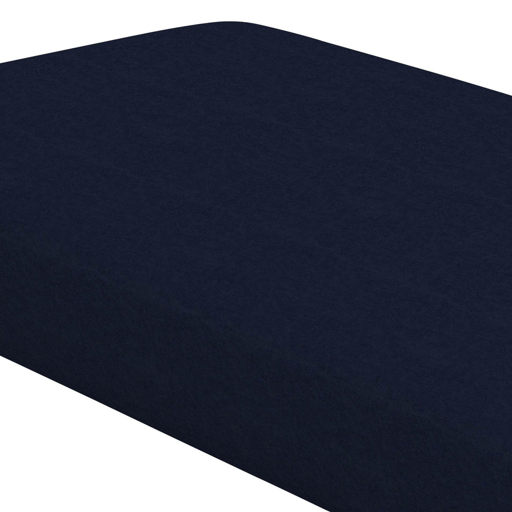 Product image for Solid Navy Minky Crib Sheet