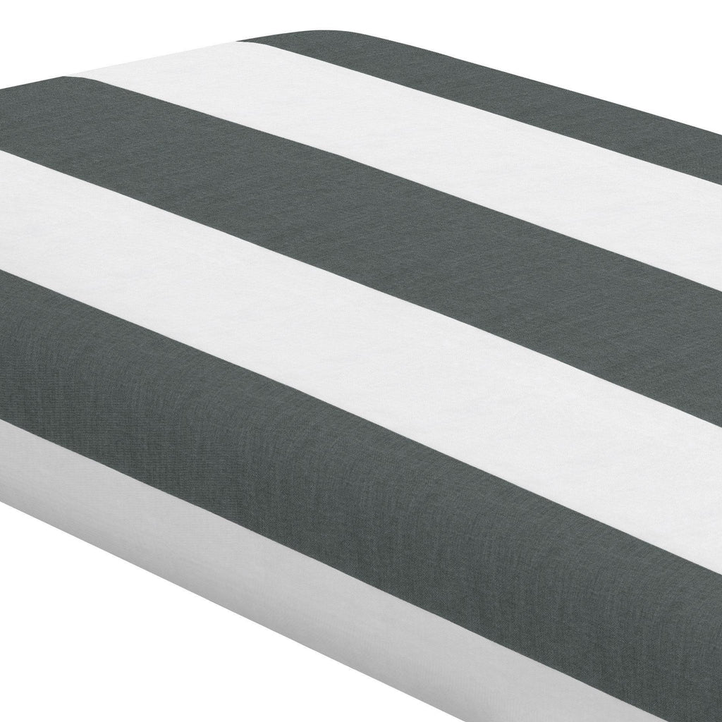 Product image for Charcoal Horizontal Stripe Crib Sheet