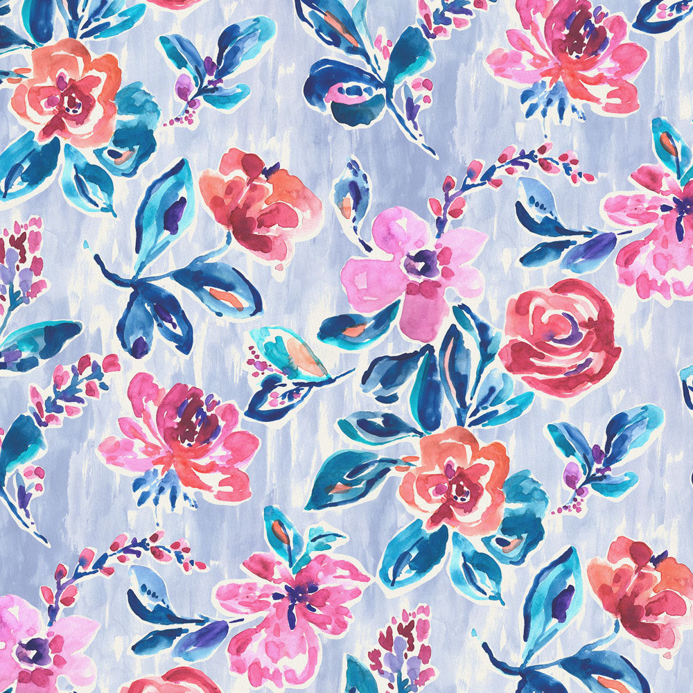 Product image for Pink and Lavender Garden Fabric