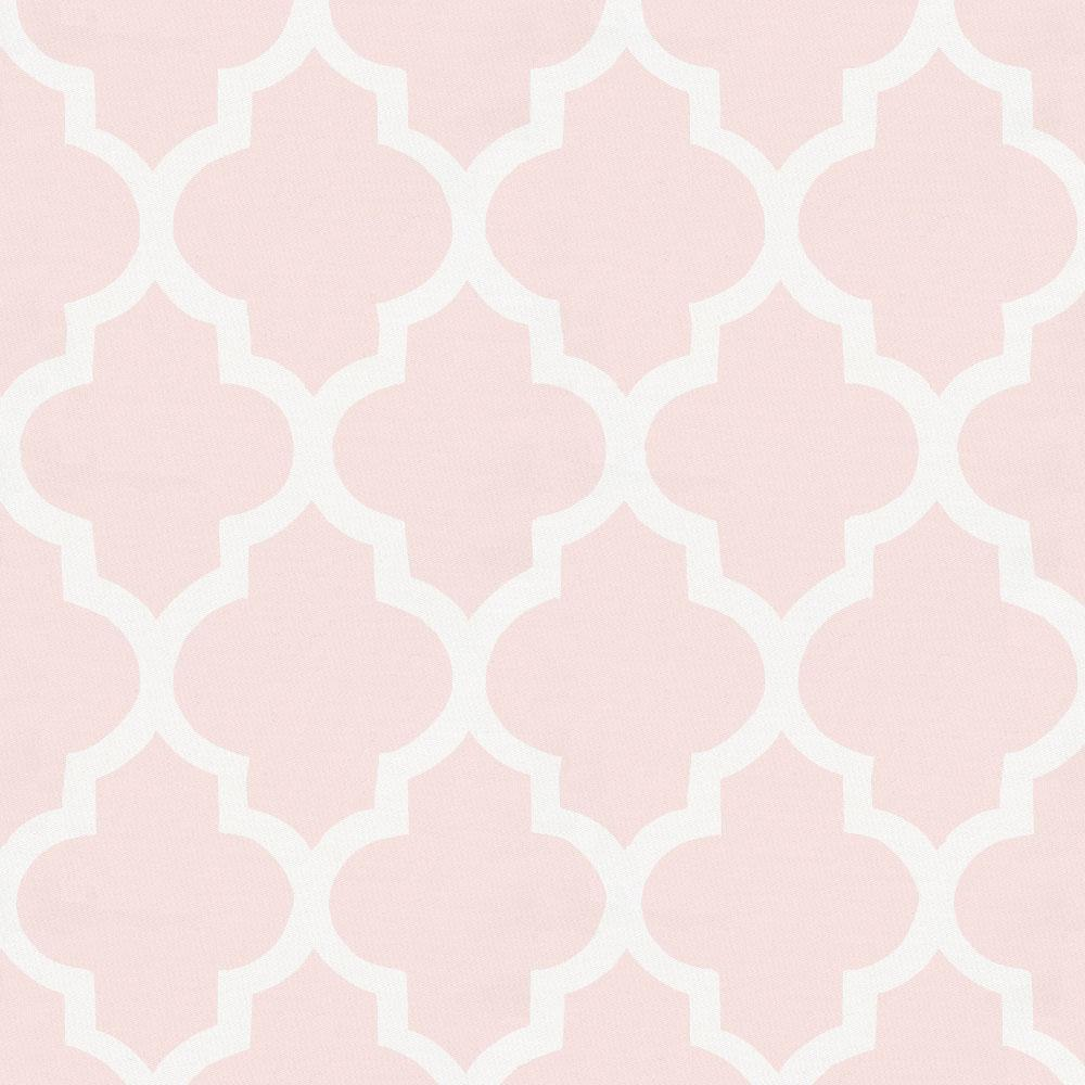 Product image for Blush Pink Hand Drawn Quatrefoil Crib Skirt Single-Pleat