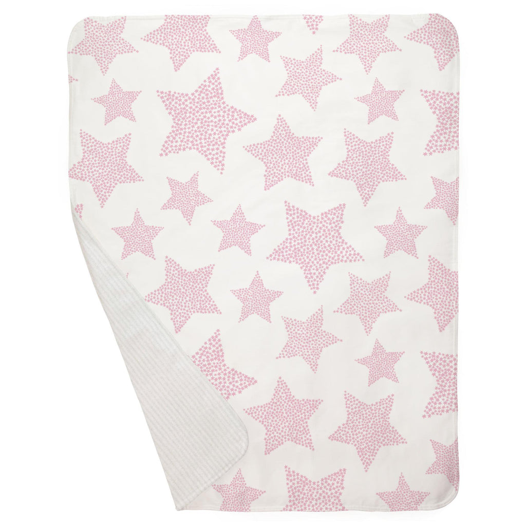 Product image for Bubblegum Galaxy Stars Baby Blanket