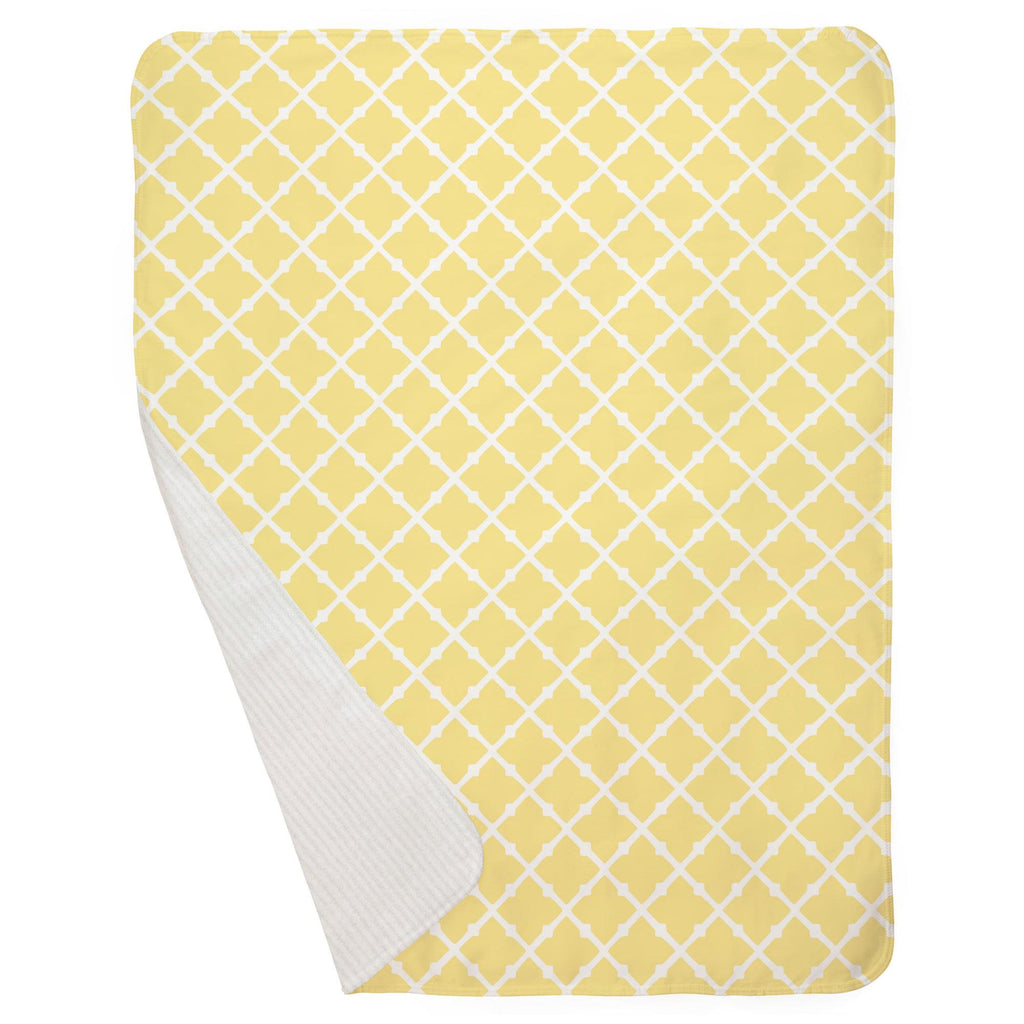 Product image for Banana Yellow Lattice Baby Blanket