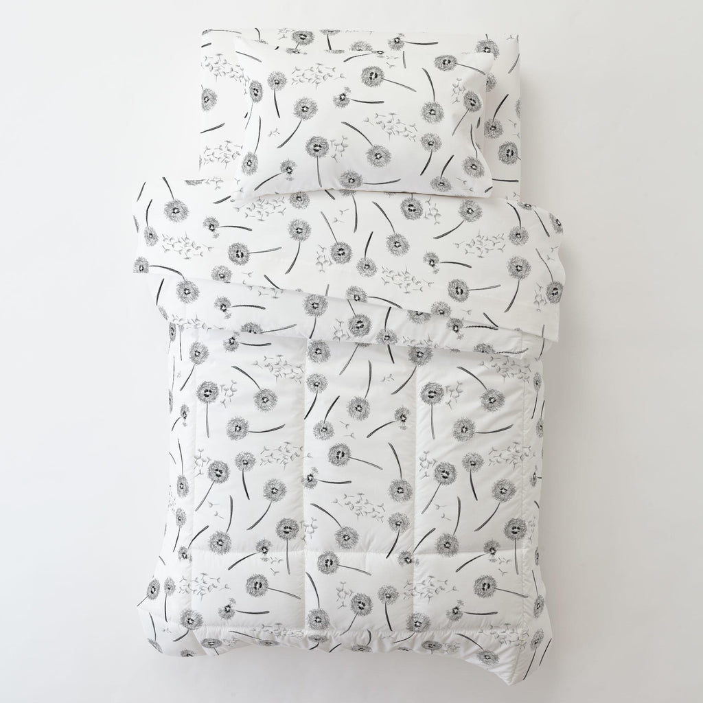 Product image for Hand Drawn Dandelion Toddler Sheet Bottom Fitted