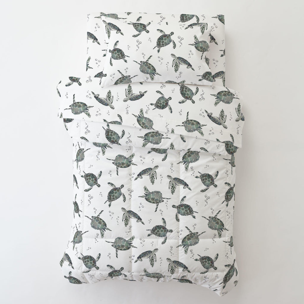 Product image for Sea Turtles Toddler Sheet Bottom Fitted