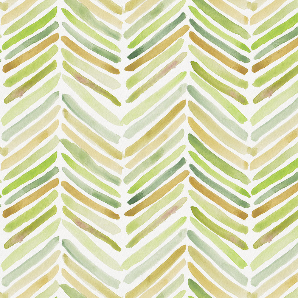 Product image for Green Painted Chevron Crib Skirt Single-Pleat