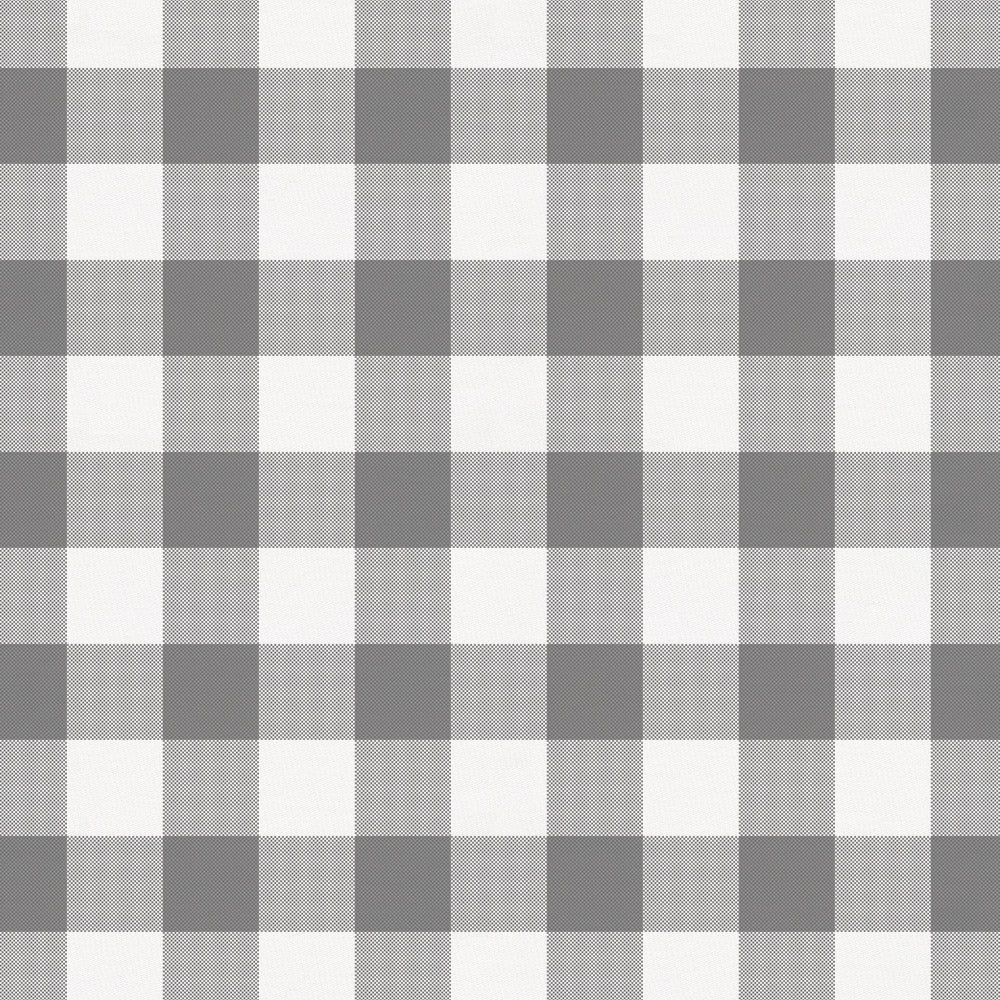 Product image for Gray Gingham Crib Skirt Gathered