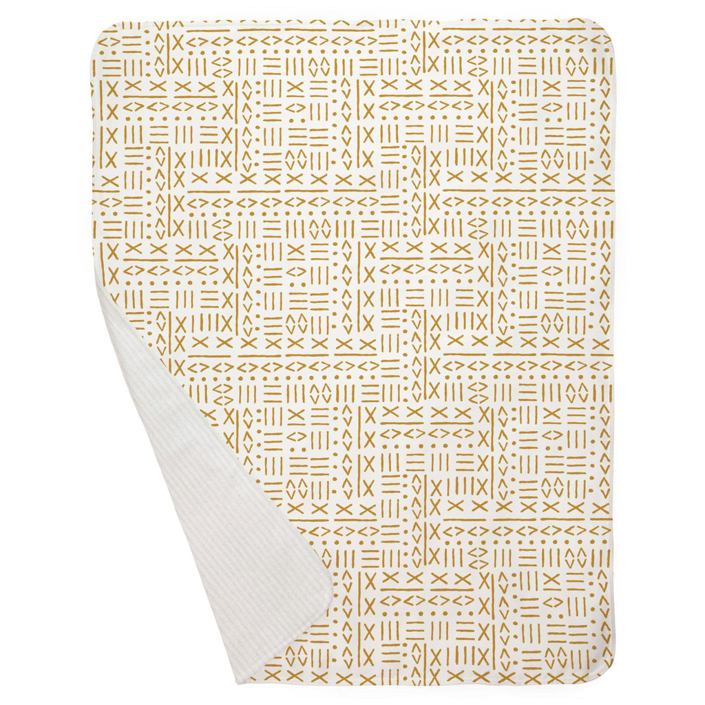 Product image for Mustard Mudcloth Baby Blanket