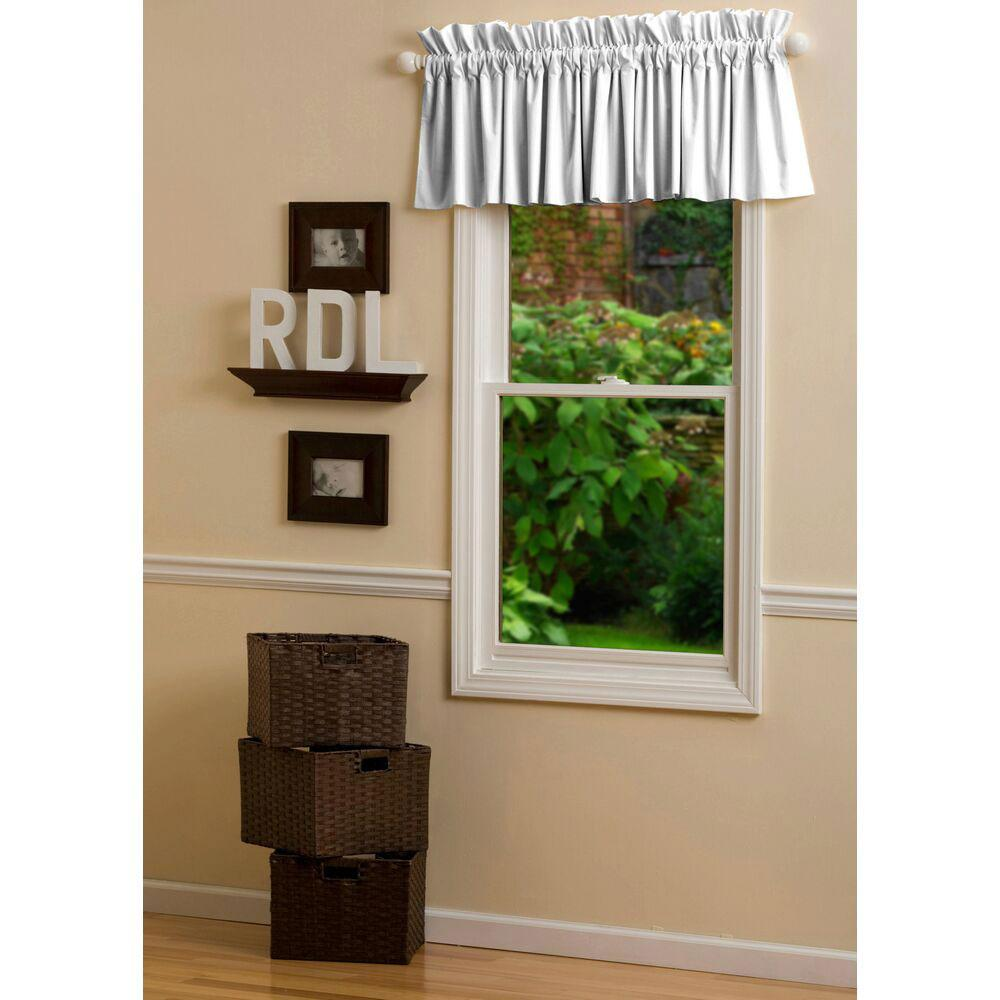 Product image for Solid White Window Valance
