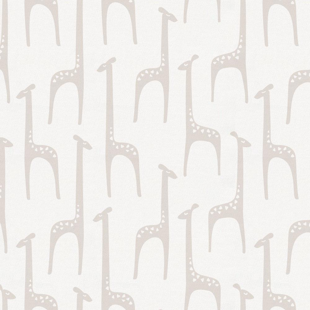 Product image for Taupe Baby Giraffe Mini Crib Sheet