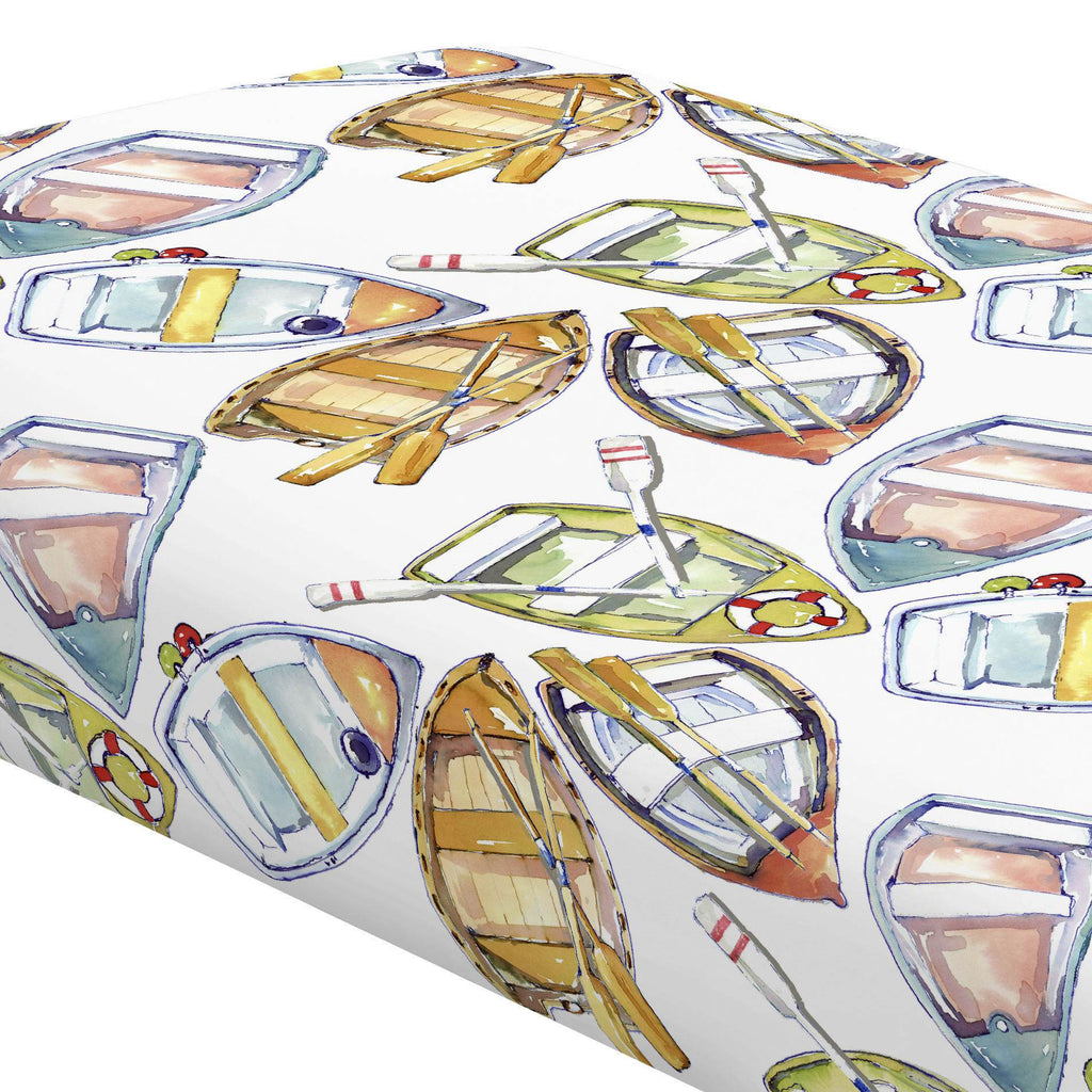 Product image for Watercolor Boats Crib Sheet